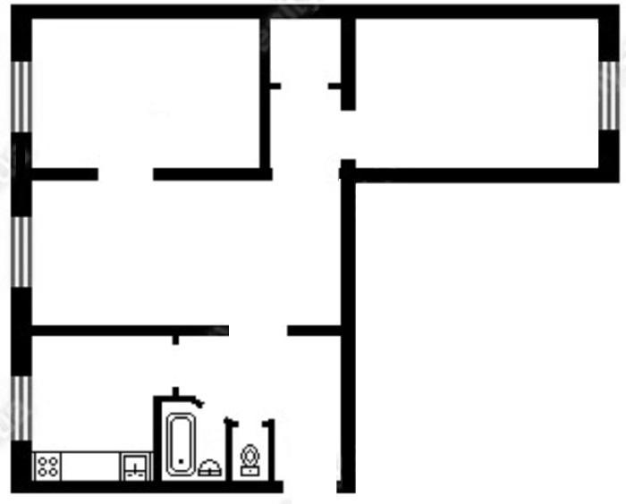 Купить 3 ком. квартиру, 58м2, Свободы пр-т., 14, г.Киев, ID 28244 - фото № 5