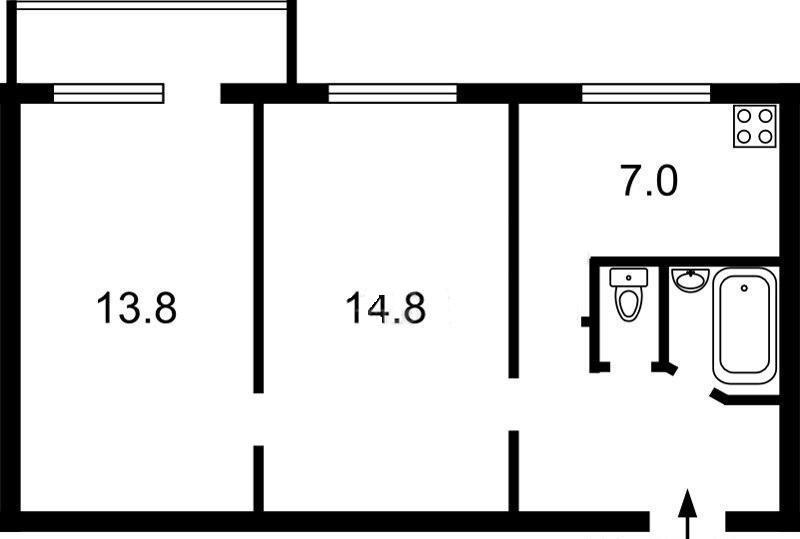 Купить 2 ком. квартиру, 43м2, Кирилловская, 124, г.Киев, ID 33161 - фото № 20