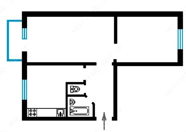 Купить 2 ком. квартиру, 45м2, ул. Игоря Турчина, 7, г.Киев, ID 33215 - фото № 2