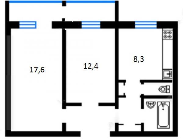 Купить двухкомнатную квартиру в Дарницком районе в Киеве - фото № 10